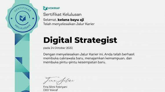 Sertifikat Digital Strategist Profesional Kelana Bayu Aji