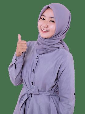 Wanita Muslim Hijab Jempol Bisnis Online Cuan Hunter