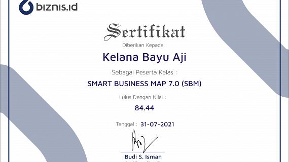 Sertifikat Smart Business Map Kelana Bayu Aji